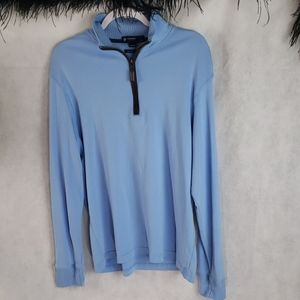 CREMEUX long sleeve quarter zip sweater supima L